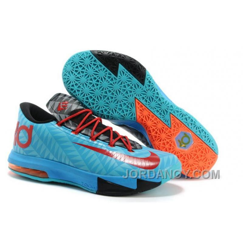 17340d050fdd5 Christmas Deals Nike Kevin Durant KD 6 VI  N7  Dark Turquoise University  Red-Black For Sale