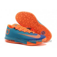 Lastest Nike Kevin Durant KD 6 VI Blue Orange For Sale
