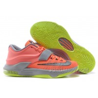 "Nike Kevin Durant KD 7 VII ""35000 Degrees"" Bright Mango/Space Blue/Light Magnet Grey For Sale"