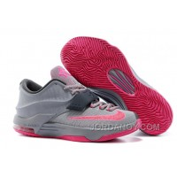 "Top Deals Nike Kevin Durant KD 7 VII ""Calm Before The Storm"" Grey/Hyper Punch-Light Magnet Grey For Sale"