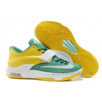 "Christmas Deals Nike Kevin Durant KD 7 VII ""Draft Day"" Apple Green/Yellow Strike-White For Sale"