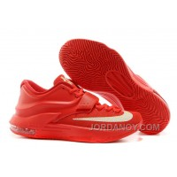 "Super Deals Nike Kevin Durant KD 7 VII ""Global Game"" Action Red/Metallic Silver For Sale"