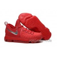 Nike KD 9 Sport Red Silver Basketball Shoes Online