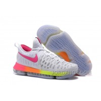 Nike KD 9 White Pink Volt Yellow Discount
