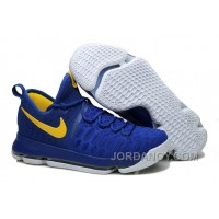 """Cheap To Buy KD 9 """"Golden State Warriors"""" Blue Yellow White 2016 For Sale"""