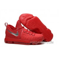 Discount KD 9 Sport Red Silver Basketball Shoes 2016 For Sale