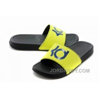 For Sale Nike KD Black Yellow Blue Slippers
