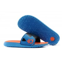 For Sale Nike KD Slide Slippers Black Blue Orange