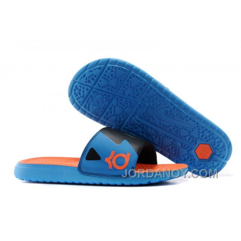 bb4c9dcd09ead For Sale Nike KD Slide Slippers Black Blue Orange