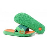 Super Deals Nike KD Slide Slippers Green Orange For Sale