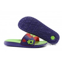 For Sale Nike KD Solarsoft Slide Court Purple/Electric Green-Light Crimson Slippers
