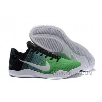 Nike Kobe 11 Green Black White Free Shipping