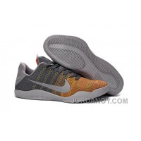 "Christmas Deals Kobe 11 Elite Low ""Cool Grey"" Cool Grey/Voltage Green-Yellow Strike 2016 For Sale"