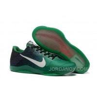 Authentic Nike Kobe 11 Black Green Shoes For Sale Online Outlet