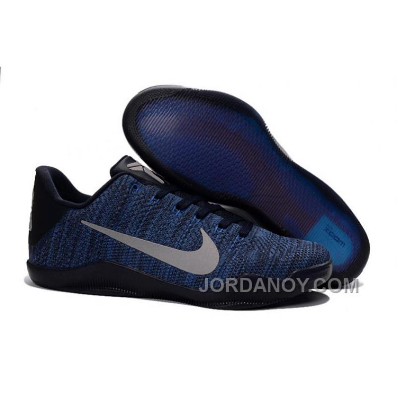 Christmas Deals Nike Kobe 11 Flyknit Blue Basketball Shoes For Sale ...