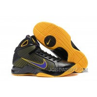 Nike Zoom Kobe 4 (IV) Black Yellow Purple Super Deals