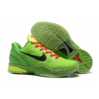 Nike Zoom Kobe 6 Grinch Green Mamba Basketball Shoes Christmas Deals
