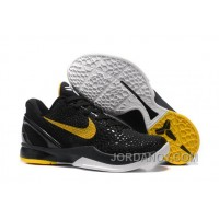 Nike Zoom Kobe 6 Black Yellow Basketball Shoes Christmas Deals