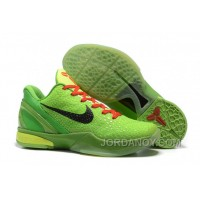 Online Nike Zoom Kobe 6 Grinch Christmas Green Mamba Basketball Shoes