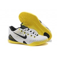Nike Kobe 9 Low EM White Black Yellow For Sale Free Shipping