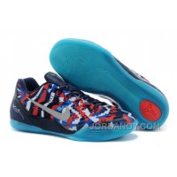 "Top Deals Nike Kobe 9 EM ""Independence Day"" White/Metallic Silver-Hyper Cobalt-Action Red"