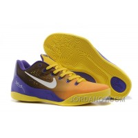 Discount Nike Kobe 9 Low EM Court Purple/Yellow-White For Sale