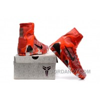 Nike Kobe 9 High Woven Christmas Red 2017 Men Shoes New Release