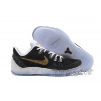 NIKE KOBE VENOMENON 5 White Black Metallic Gold Cheap To Buy