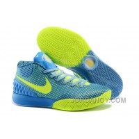 Authentic Nike Kyrie 1 Custom Blue Yellow