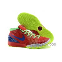 Authentic Nike Kyrie 1 Women Shoes Red Green