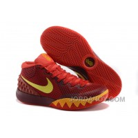 Lastest Nike Kyrie 1 Women Shoes Red Yellow