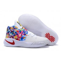 """Hot Now Nike Kyrie 2 """"Effect"""" White-Red/Multi-Color"""