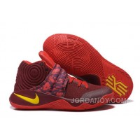 "For Sale Nike Kyrie 2 ""Cavs"" PE Wine Red Yellow"