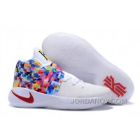 "Lastest Nike Kyrie 2 ""Effect"" White-Red/Multi-Color"