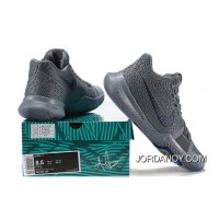 2017 New Nike Kyrie 3 Cool Grey-Anthracite-Polarized Blue Released For Sale