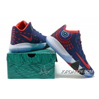 Nike Kyrie 4 Mens Basketball Shoes Blue Red Online