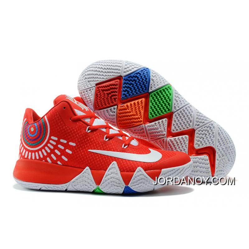 super popular 35fca 310d6 Nike Kyrie 4 Red White New Style