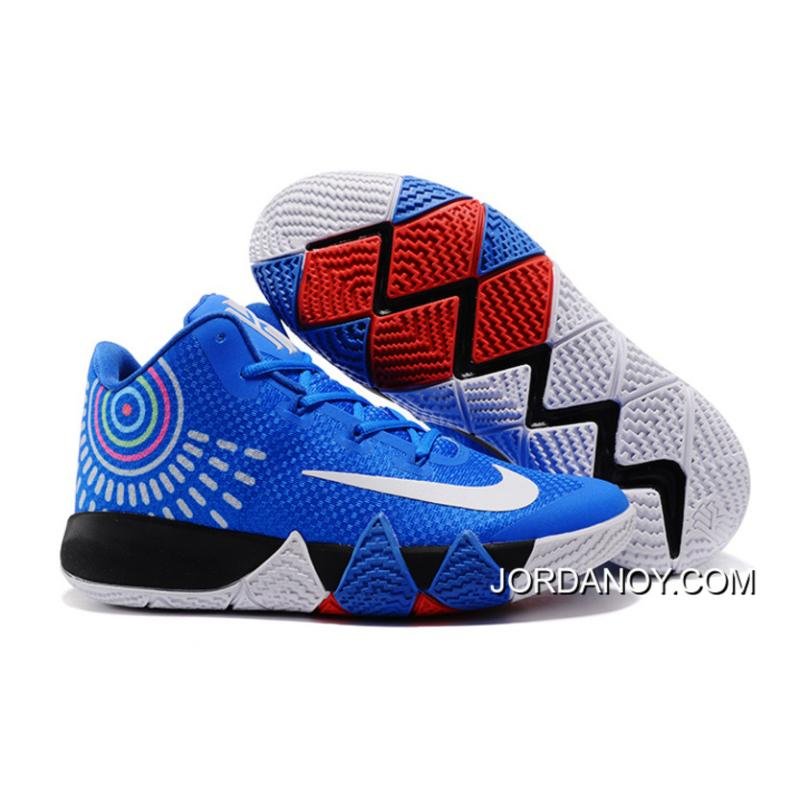 new product 356a0 95f0c Online Nike Kyrie 4 Royal Blue/White