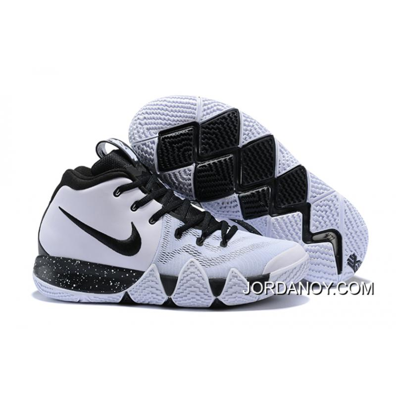 the latest f4949 99bea Nike Kyrie 4 White Black New Release
