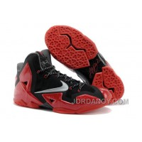 "Nike LeBron 11 ""Away"" Black/Metallic Silver-University Red-Bright Crimson-Dark Grey Discount"