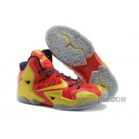 """Nike LeBron 11 """"Ring Ceremony"""" PE Sport Red/Metallic Gold-Black For Sale"""