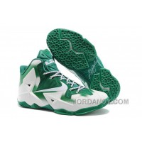 "Nike LeBron 11 ""Michigan State"" PE White Green For Sale Free Shipping"
