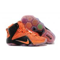 Nike LeBron 12 Team Orange/Black For Sale Super Deals