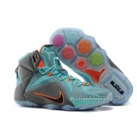 "Authentic Nike LeBron 12 ""Miami Dolphins"" Turquoise/Grey-Crimson-Black For Sale"