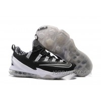 Discount 2016 Nike LeBron 13 Low Black Silver For Sale