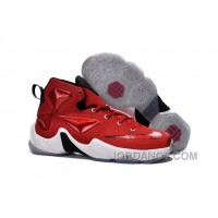 Nike Lebron 13 Gym Red Black White Men Basketball Shoes For Cheap Online