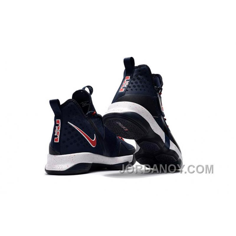 low priced e68fa b2f8b Nike LeBron 14 SBR Navy Blue Red Online