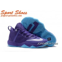 Nike LeBron Ambassador 9 Basketball Shoes Purple Blue Super Deals