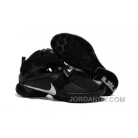 "Nike LeBron Soldier 9 ""Blackout"" All Black Basketball Shoe Free Shipping"