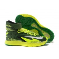 Christmas Deals Nike Zoom Hyperrev KYRIE IRVING Black/Metallic Silver/Electric Green For Sale 312782
